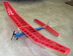 Blazer 280 - Free Flight/RC Assist model based o Model Airplane Kitn the Carl Goldberg 1/2A FF design