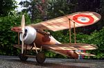 Nieuport 28  N029 - Sport 1/9 scale WW1 French fighter Model Airplane Kit