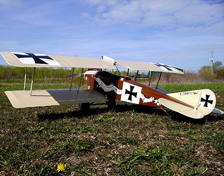 Albatros C.III  N105 - Sport 1/8 scale WW1 German fighter Model Airplane Kit