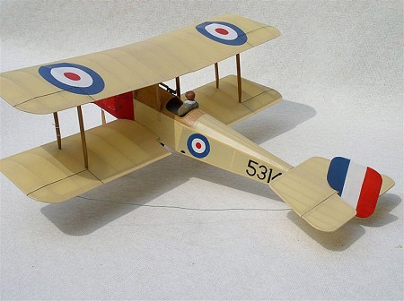 Bristol Scout  N001 - Sport 1/8 scale WW1 British fighter Model Airplane Kit