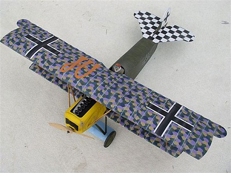 Fokker D.VII  N025 - Sport 1/9 scale WW1 German fighter Model Airplane Kit