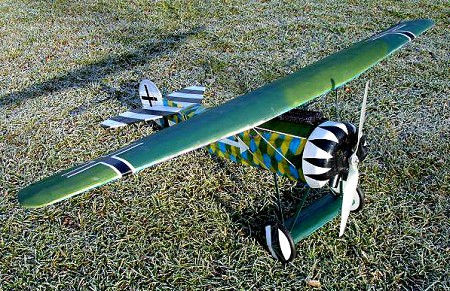 Fokker D.VIII  N079 - Sport 1/6 scale WW1 German fighter Model Airplane Kit