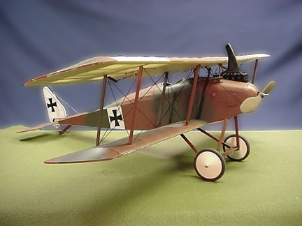 Halberstadt D.III  N015 - Sport 1/9 scale WW1 German fighter Model Airplane Kit