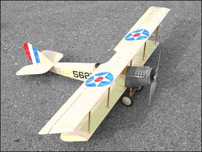 Curtiss JN-4D Jenny  N047 - Sport ~1/9 scale WW1 American trainer Model Airplane Kit
