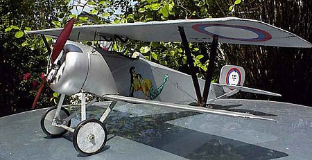 Nieuport 17  N077 - Sport 1/8 scale WW1 French fighter Model Airplane Kit