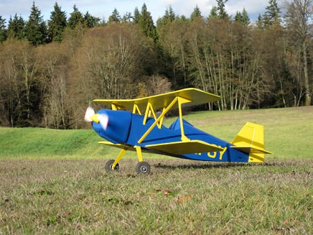 Andreasson BA-4b - Scale Civilian Postwar Biplane Model Airplane Kit