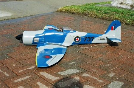 Hawker Sea Fury - Scale WW2 British fighter Model Airplane Kit
