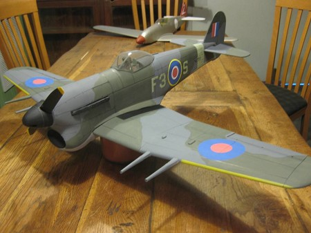 Hawker Typhoon - Scale WW2 British fighter Model Airplane Kit